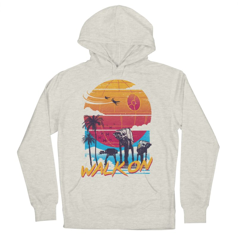 Walk On Men's French Terry Pullover Hoody by Vincent Trinidad Art
