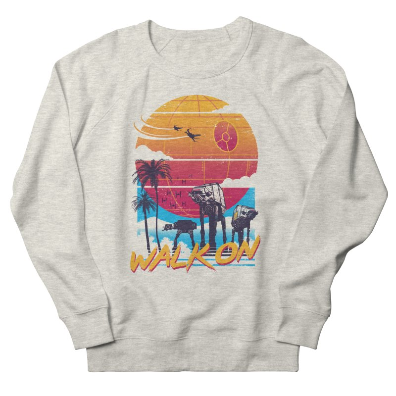 Walk On Men's French Terry Sweatshirt by Vincent Trinidad Art
