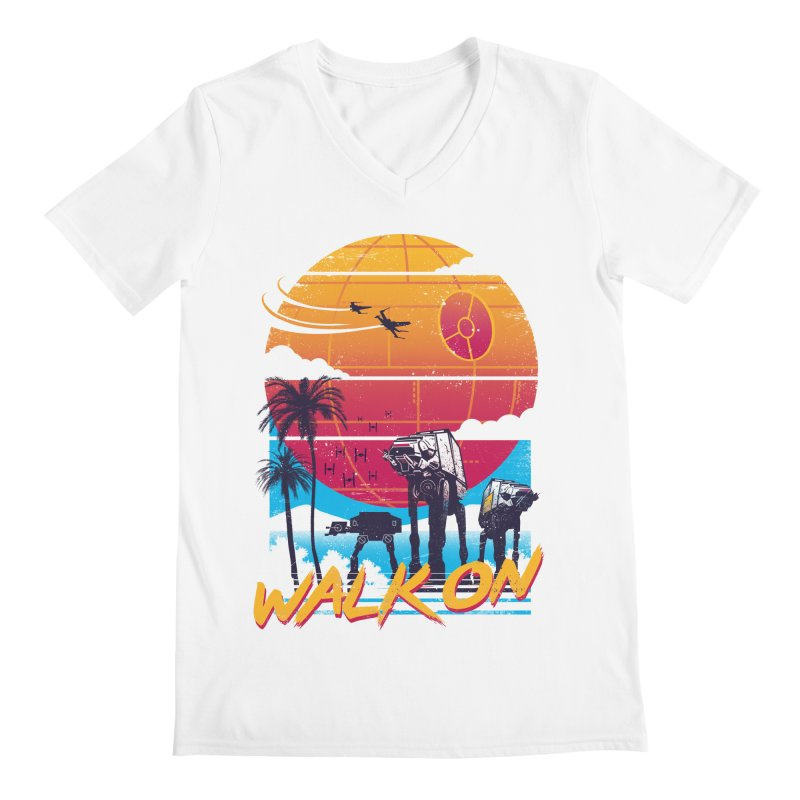 Walk On Men's Regular V-Neck by Vincent Trinidad Art