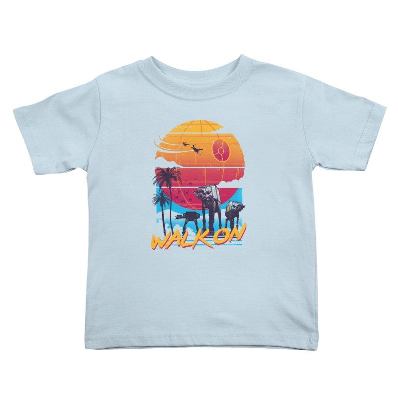 Walk On Kids Toddler T-Shirt by Vincent Trinidad Art