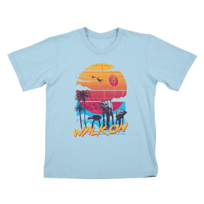 Walk On Kids T-Shirt by Vincent Trinidad Art