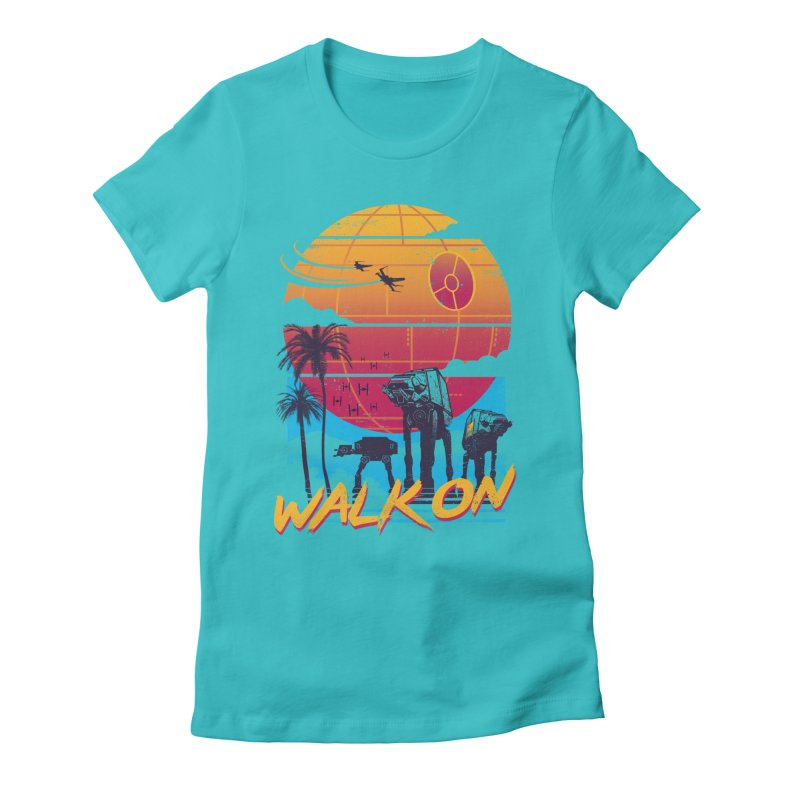 Walk On Women's Fitted T-Shirt by Vincent Trinidad Art