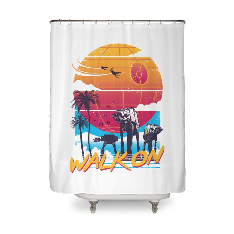 Walk On Home Shower Curtain by Vincent Trinidad Art