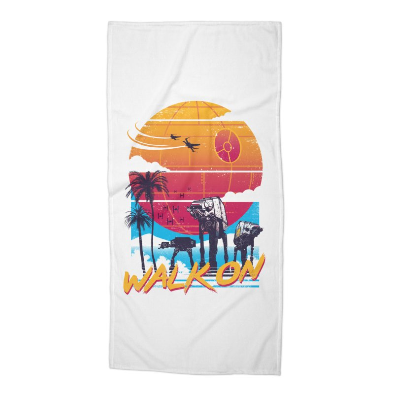 Walk On Accessories Beach Towel by Vincent Trinidad Art