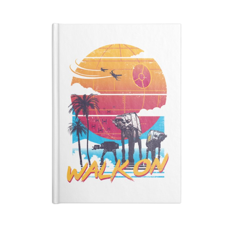 Walk On Accessories Blank Journal Notebook by Vincent Trinidad Art