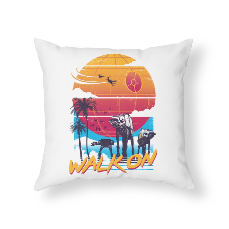 Walk On Home Throw Pillow by Vincent Trinidad Art