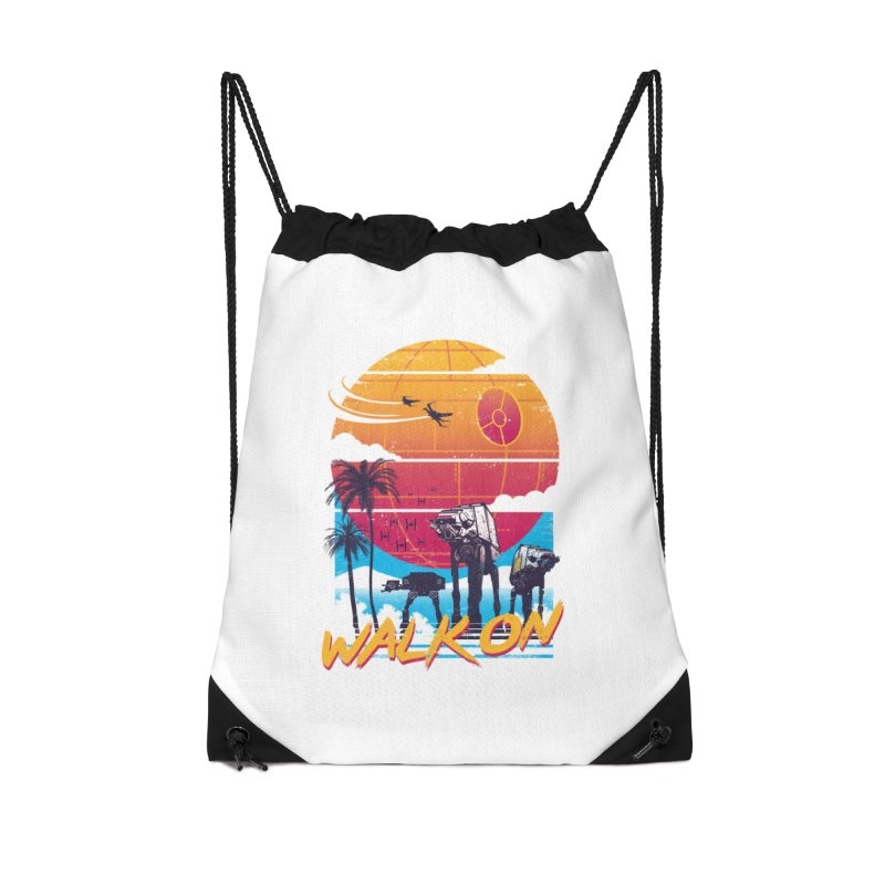 Walk On Accessories Drawstring Bag Bag by Vincent Trinidad Art