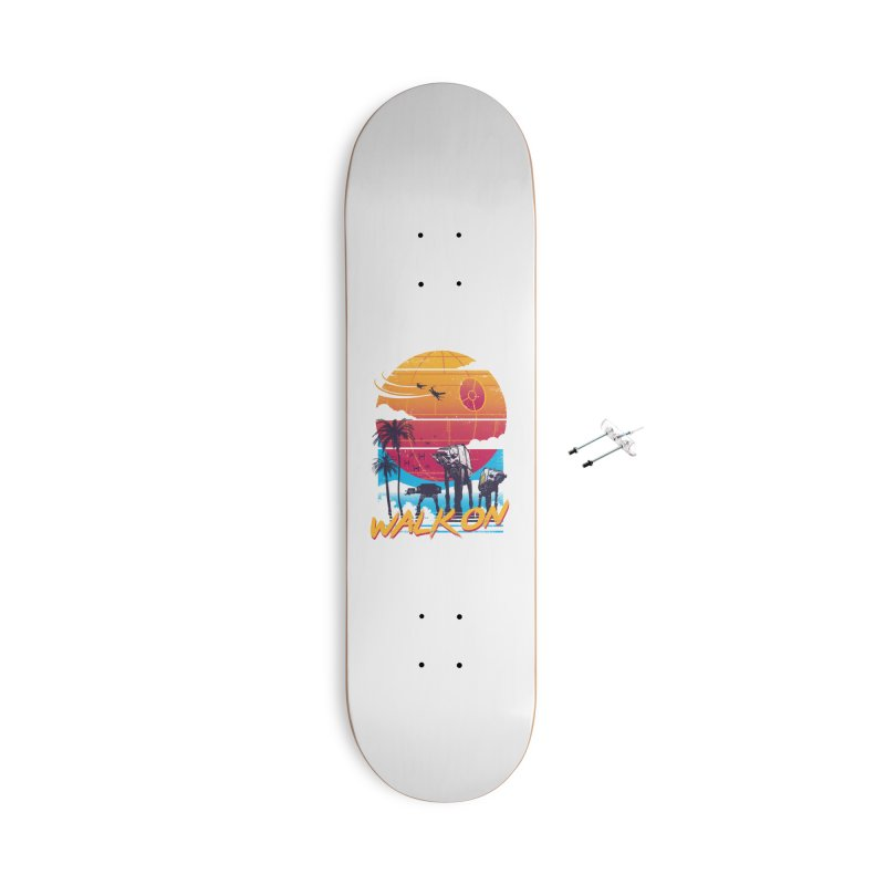 Walk On Accessories With Hanging Hardware Skateboard by Vincent Trinidad Art