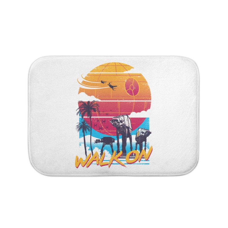 Walk On Home Bath Mat by Vincent Trinidad Art
