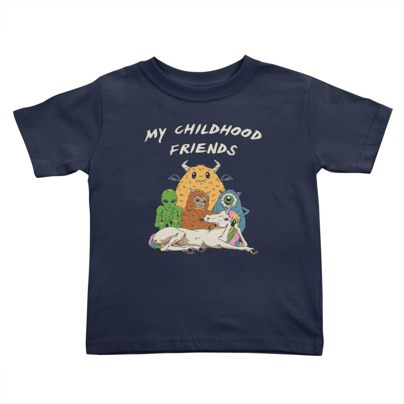 Imaginary Friends Club Kids Toddler T-Shirt by Vincent Trinidad Art