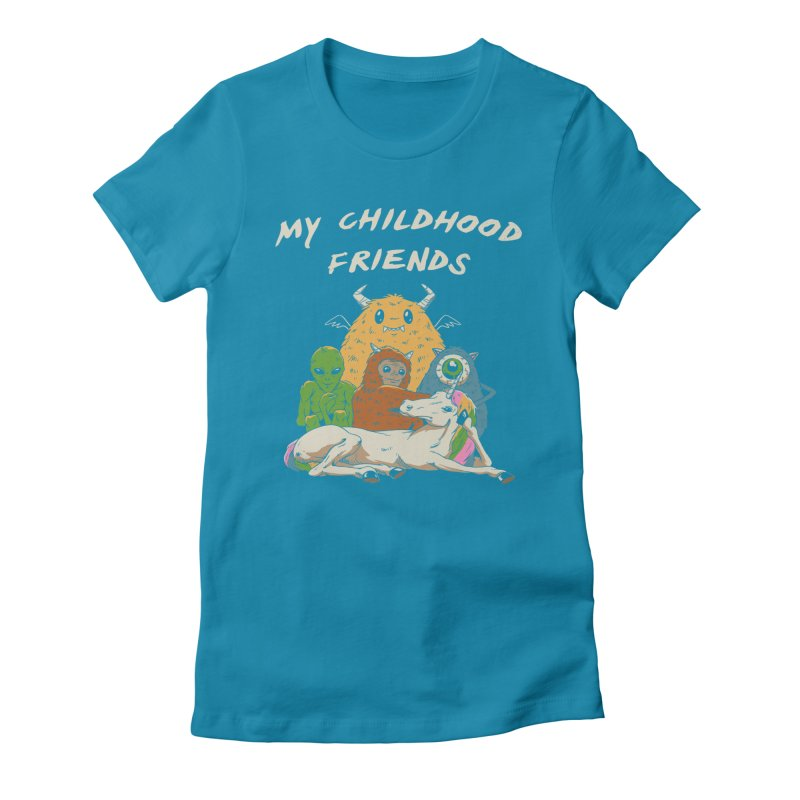 Imaginary Friends Club Women's Fitted T-Shirt by Vincent Trinidad Art