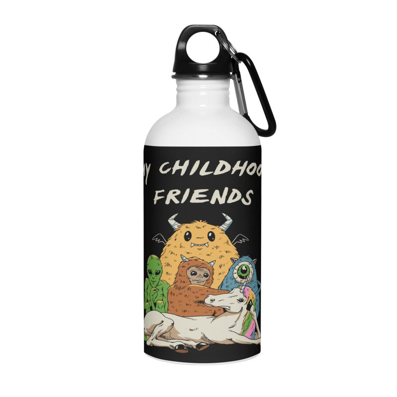 Imaginary Friends Club Accessories Water Bottle by Vincent Trinidad Art