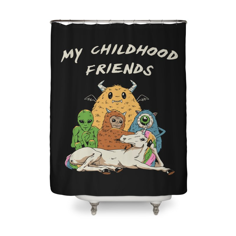 Imaginary Friends Club Home Shower Curtain by Vincent Trinidad Art