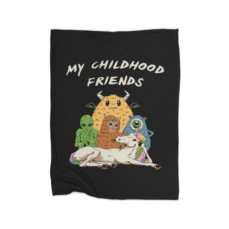 Imaginary Friends Club Home Fleece Blanket Blanket by Vincent Trinidad Art