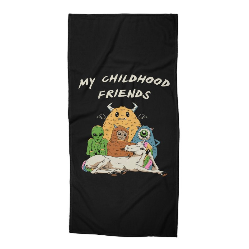 Imaginary Friends Club Accessories Beach Towel by Vincent Trinidad Art