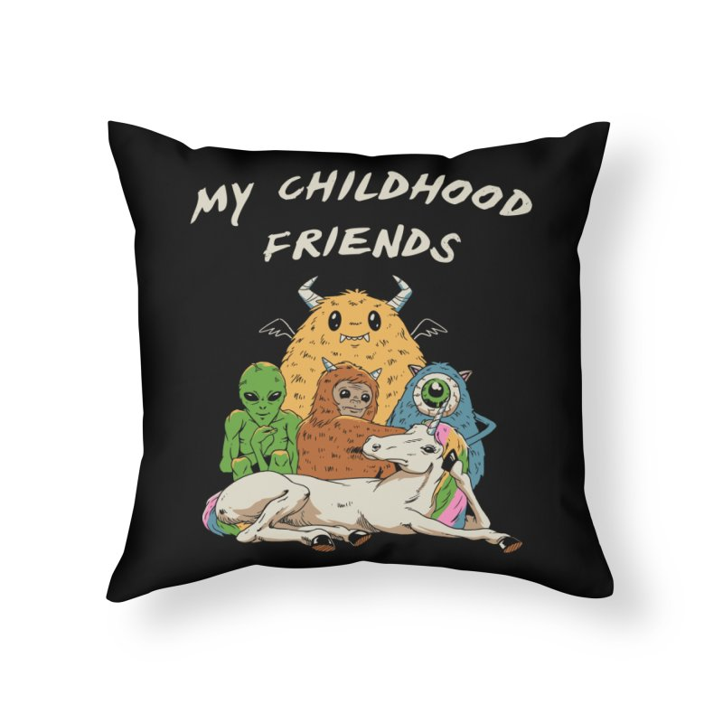 Imaginary Friends Club Home Throw Pillow by Vincent Trinidad Art
