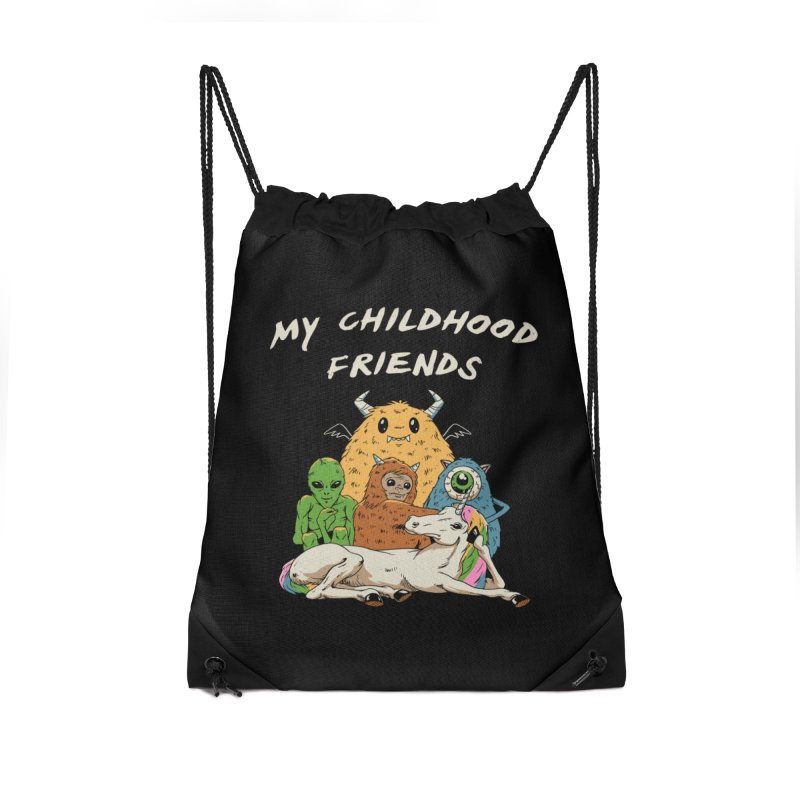 Imaginary Friends Club Accessories Drawstring Bag Bag by Vincent Trinidad Art
