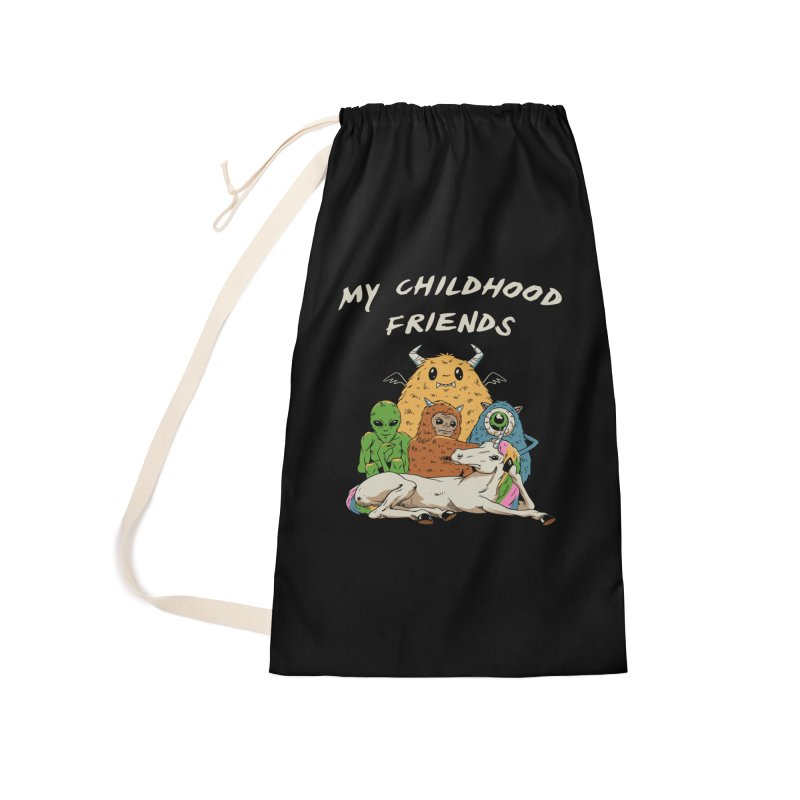 Imaginary Friends Club Accessories Laundry Bag Bag by Vincent Trinidad Art