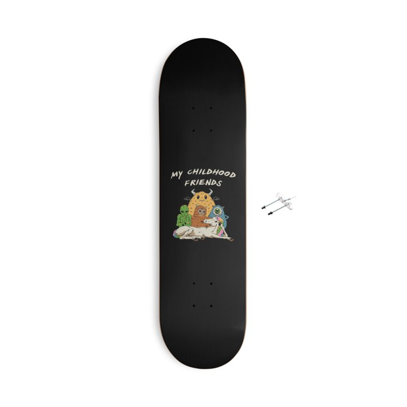 Imaginary Friends Club Accessories With Hanging Hardware Skateboard by Vincent Trinidad Art