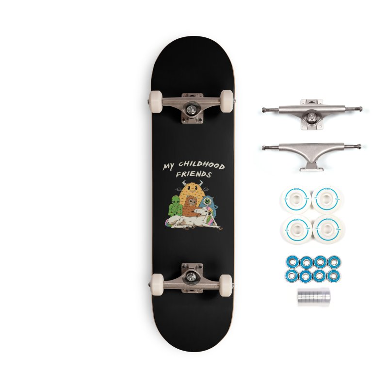 Imaginary Friends Club Accessories Complete - Basic Skateboard by Vincent Trinidad Art