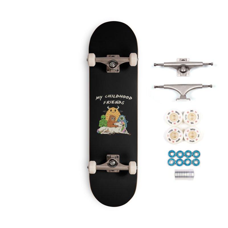 Imaginary Friends Club Accessories Complete - Premium Skateboard by Vincent Trinidad Art