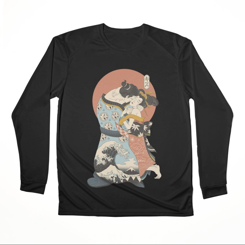 The Kiss Ukiyo-e Women's Performance Unisex Longsleeve T-Shirt by Vincent Trinidad Art