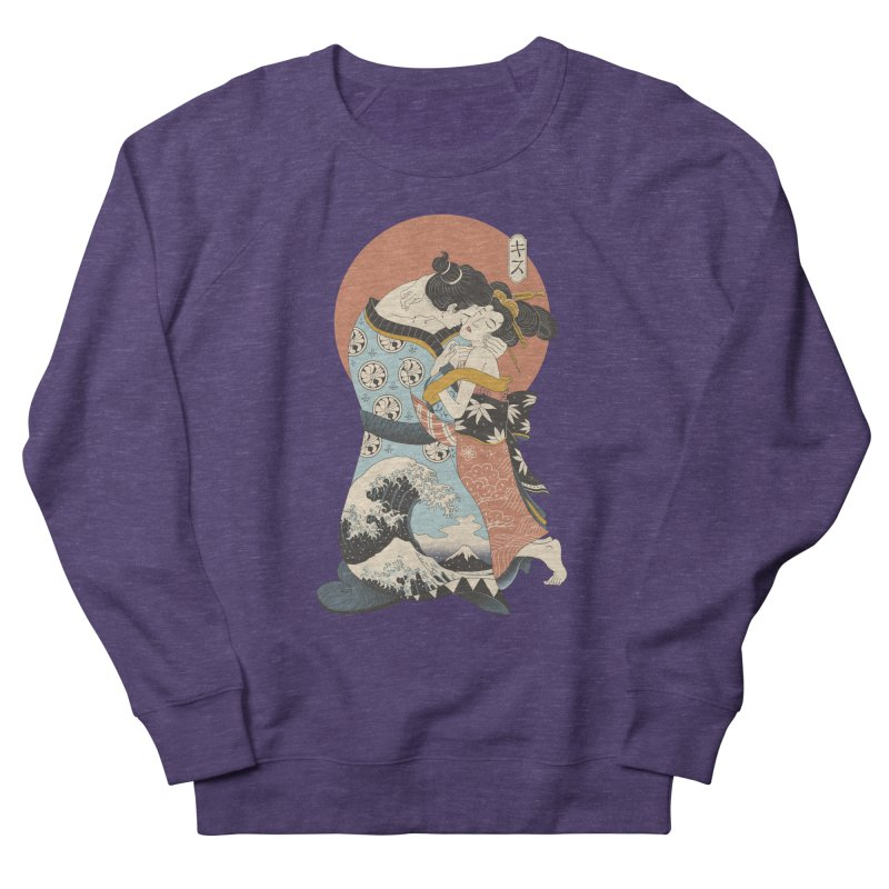 The Kiss Ukiyo-e Men's French Terry Sweatshirt by Vincent Trinidad Art