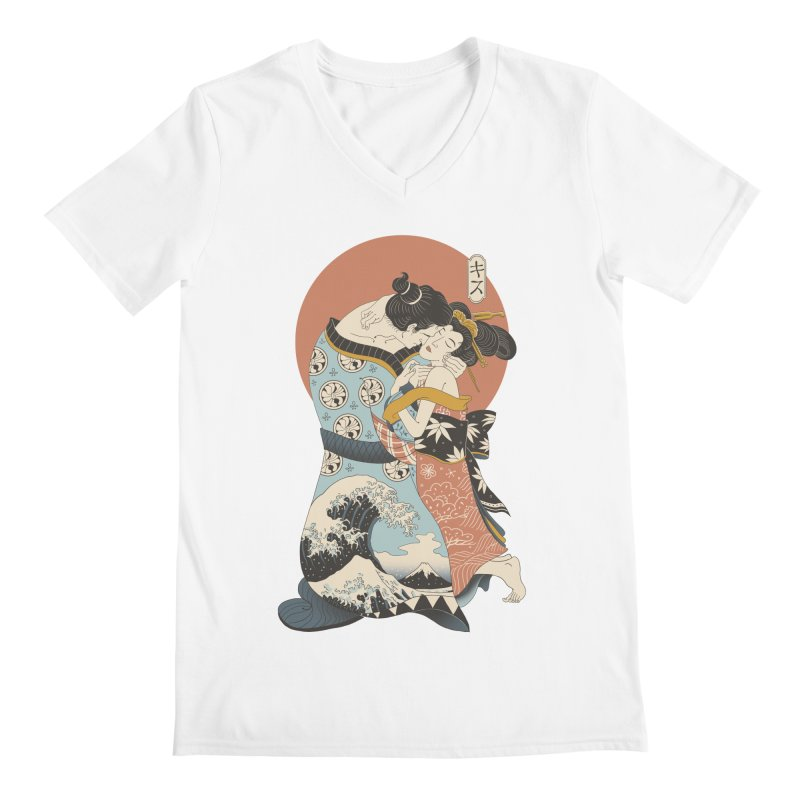 The Kiss Ukiyo-e Men's Regular V-Neck by Vincent Trinidad Art