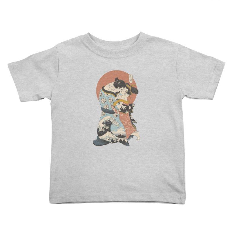 The Kiss Ukiyo-e Kids Toddler T-Shirt by Vincent Trinidad Art