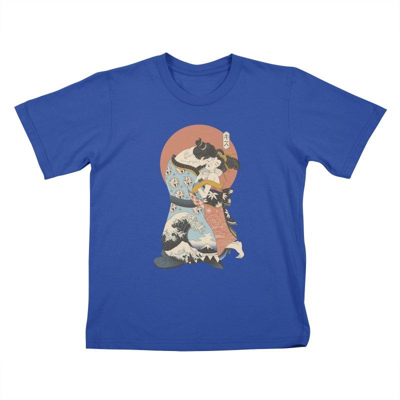 The Kiss Ukiyo-e Kids T-Shirt by Vincent Trinidad Art