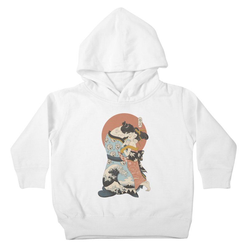 The Kiss Ukiyo-e Kids Toddler Pullover Hoody by Vincent Trinidad Art