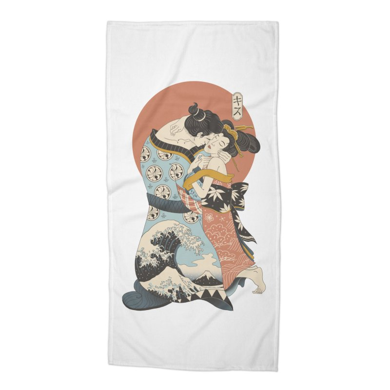 The Kiss Ukiyo-e Accessories Beach Towel by Vincent Trinidad Art