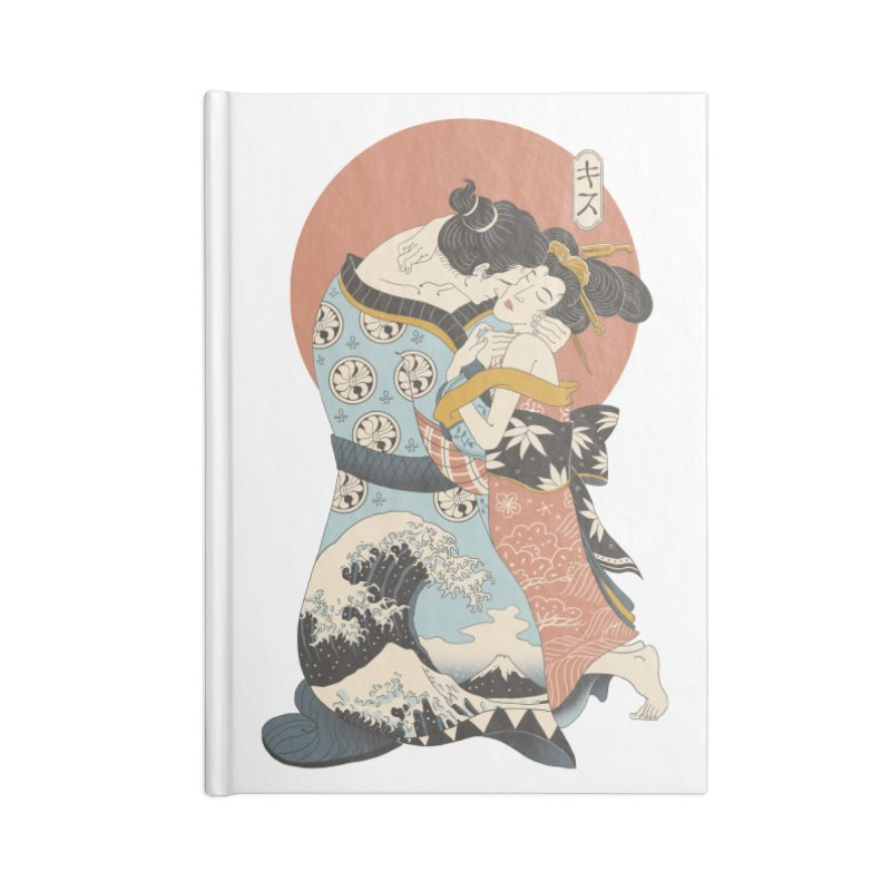 The Kiss Ukiyo-e Accessories Blank Journal Notebook by Vincent Trinidad Art