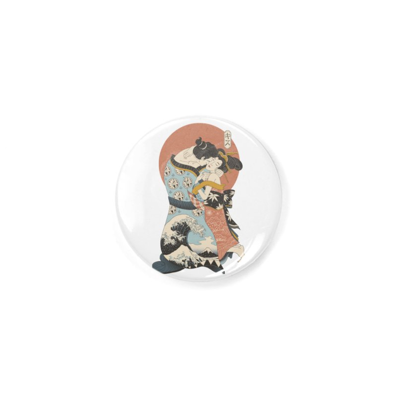 The Kiss Ukiyo-e Accessories Button by Vincent Trinidad Art