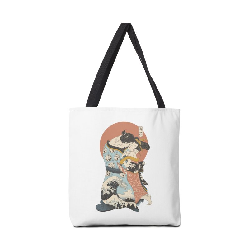 The Kiss Ukiyo-e Accessories Tote Bag Bag by Vincent Trinidad Art