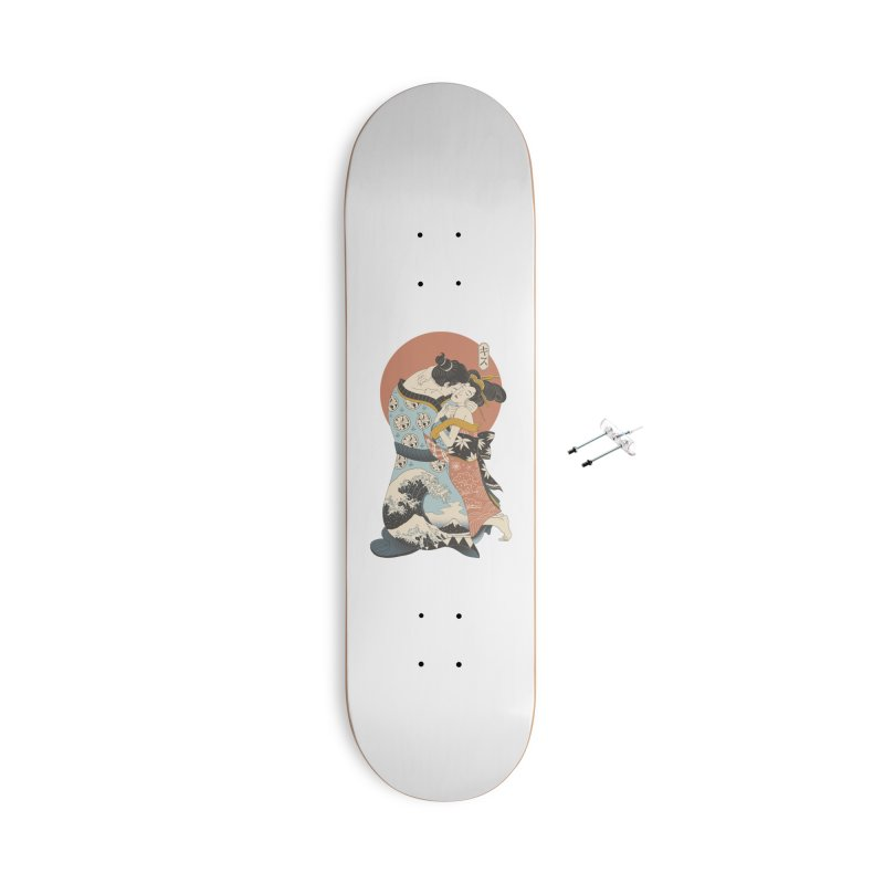 The Kiss Ukiyo-e Accessories With Hanging Hardware Skateboard by Vincent Trinidad Art
