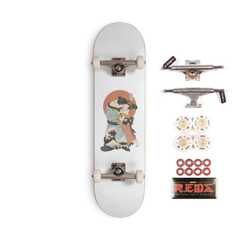 The Kiss Ukiyo-e Accessories Complete - Pro Skateboard by Vincent Trinidad Art