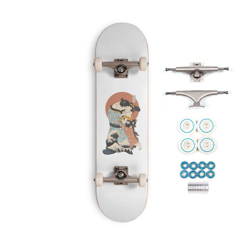The Kiss Ukiyo-e Accessories Complete - Basic Skateboard by Vincent Trinidad Art