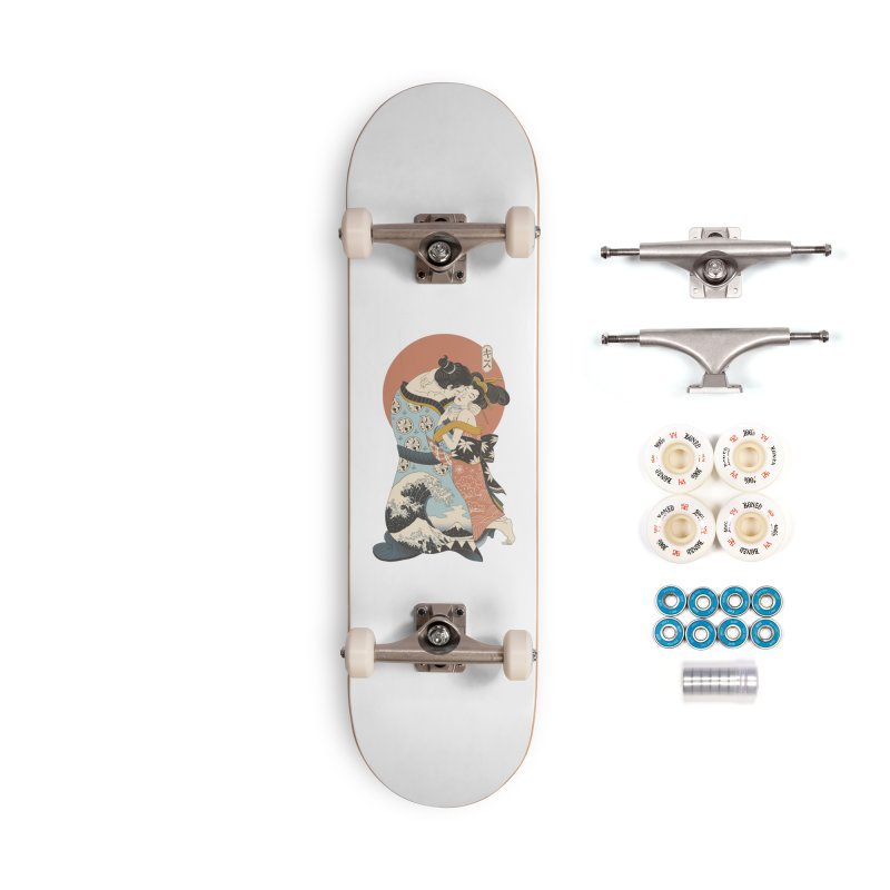 The Kiss Ukiyo-e Accessories Complete - Premium Skateboard by Vincent Trinidad Art