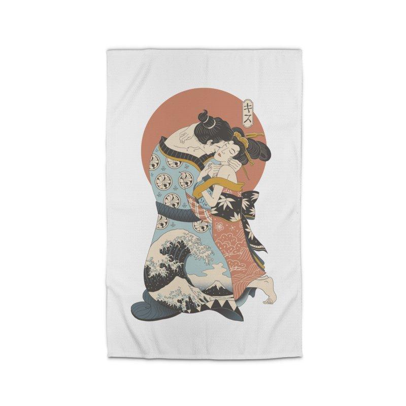 The Kiss Ukiyo-e Home Rug by Vincent Trinidad Art