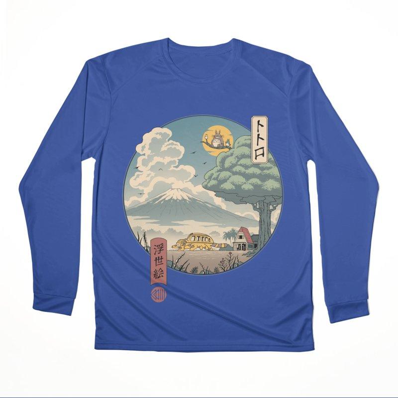 Neighbor's Ukiyo e Women's Performance Unisex Longsleeve T-Shirt by Vincent Trinidad Art