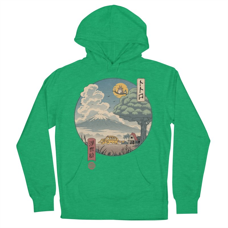 Neighbor's Ukiyo e Men's French Terry Pullover Hoody by Vincent Trinidad Art
