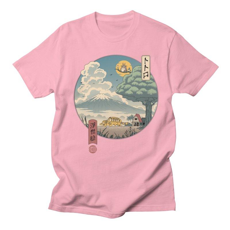 Neighbor's Ukiyo e Men's Regular T-Shirt by Vincent Trinidad Art