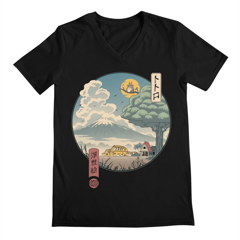 Neighbor's Ukiyo e Men's Regular V-Neck by Vincent Trinidad Art