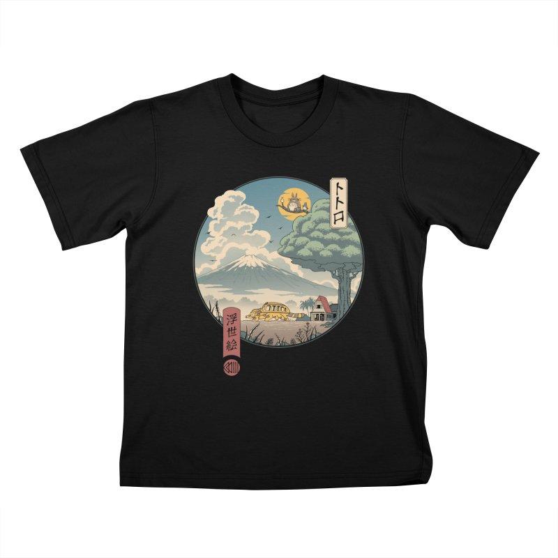 Neighbor's Ukiyo e Kids T-Shirt by Vincent Trinidad Art