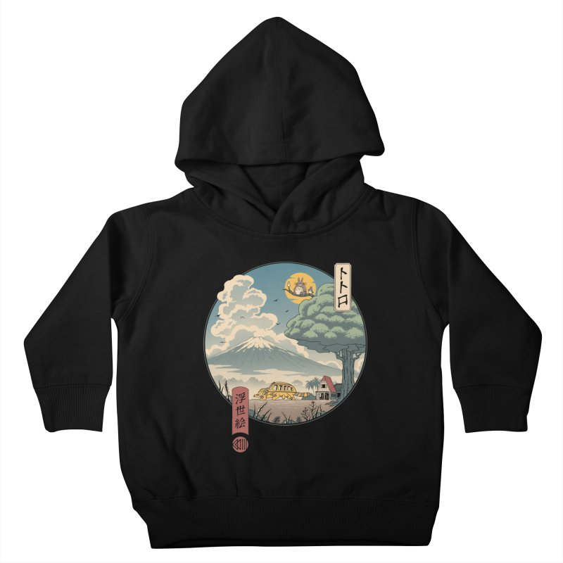 Neighbor's Ukiyo e Kids Toddler Pullover Hoody by Vincent Trinidad Art