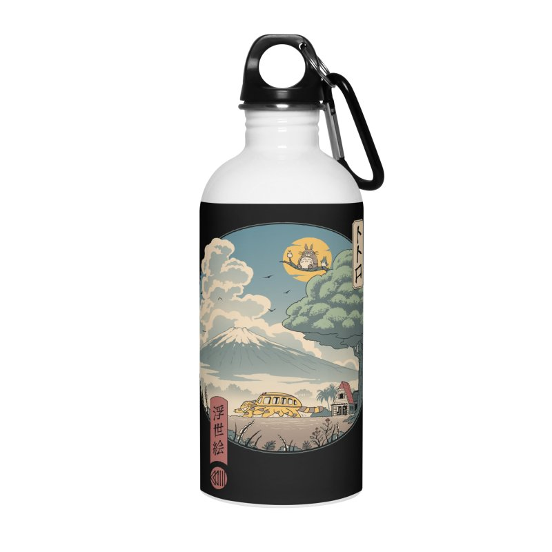 Neighbor's Ukiyo e Accessories Water Bottle by Vincent Trinidad Art