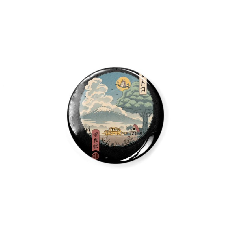 Neighbor's Ukiyo e Accessories Button by Vincent Trinidad Art
