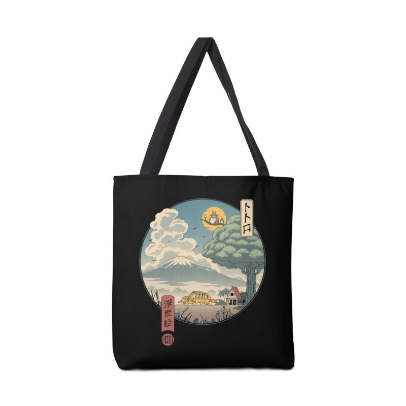 Neighbor's Ukiyo e Accessories Tote Bag Bag by Vincent Trinidad Art