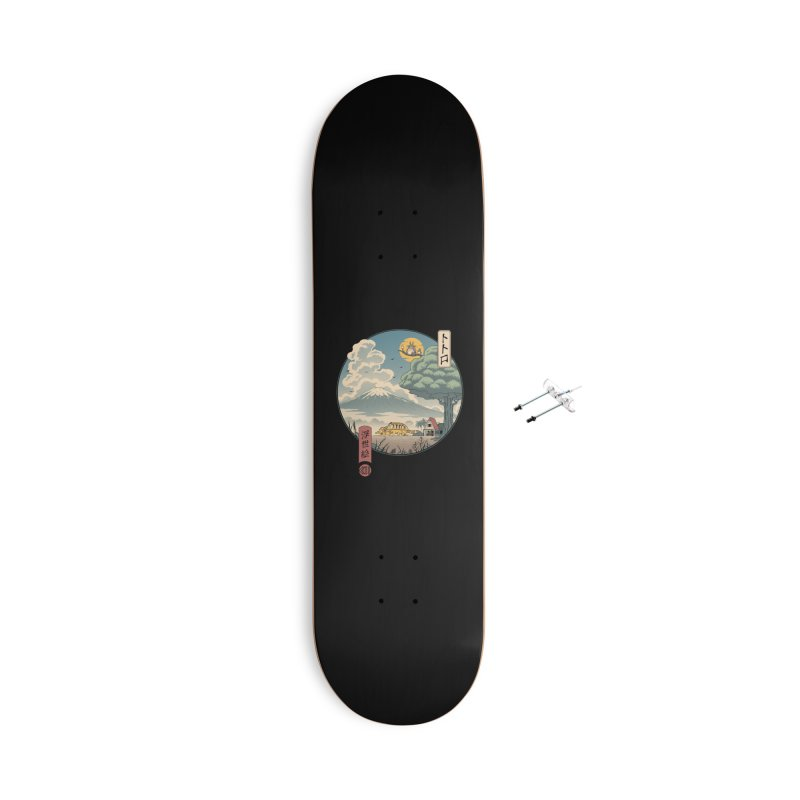 Neighbor's Ukiyo e Accessories With Hanging Hardware Skateboard by Vincent Trinidad Art